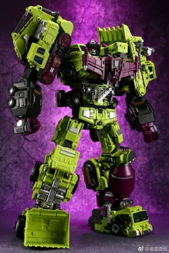 (With Upgrade kit-Loose set of 6)Transformer Toy Jinbao Oversized Devastator Gravity Builder