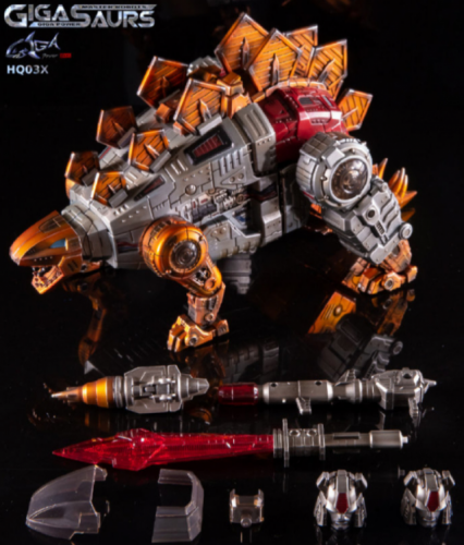 (In stock) Transformers Toy GigaPower GP HQ-03X HQ03X Guttur Snarl Metallic Weathered Version