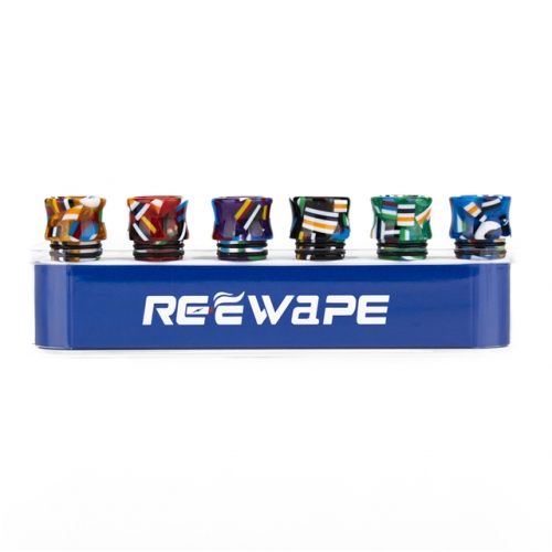 Hot sell RW-A23 Resin 810 thread drip tips kit mix colors 8 pcs in a kit