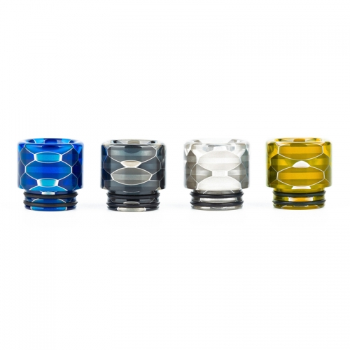 RW-AS204Resin 810 Snakeskin Transparent Drip Tip