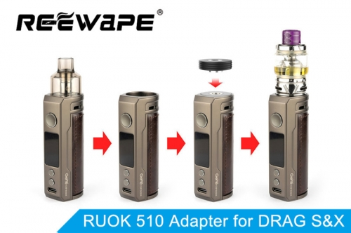 NEWEST !!! Reewape RUOK 510 Adapter for Voopoo DRAG S & X