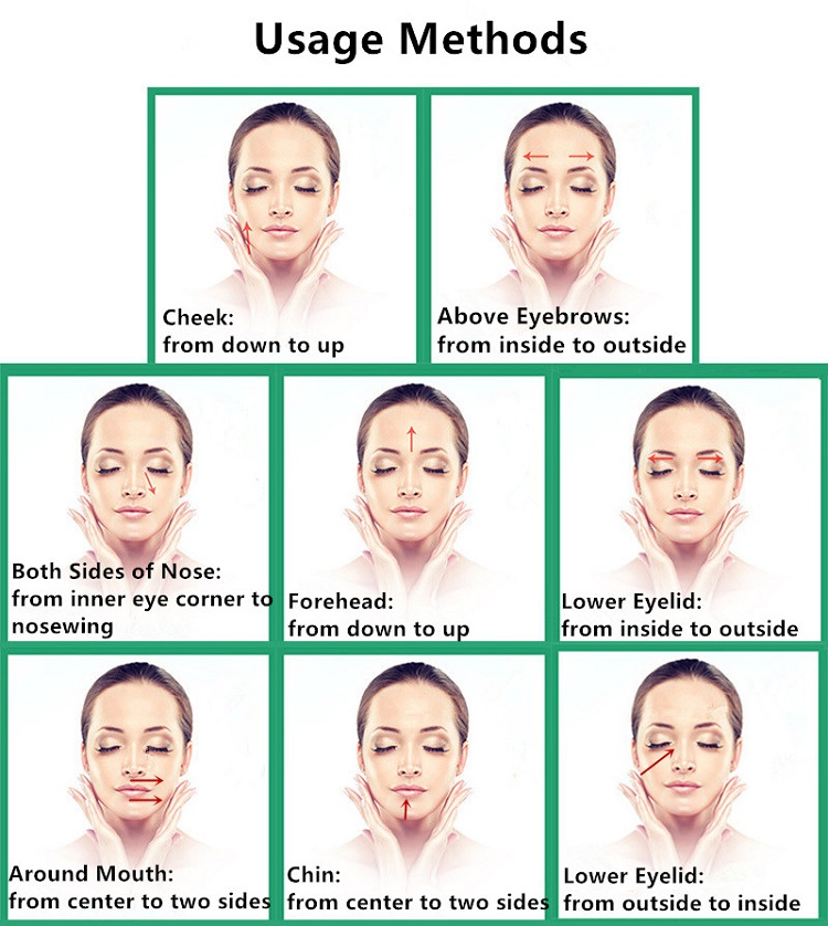 Usage Instructions for Face Massager Roller