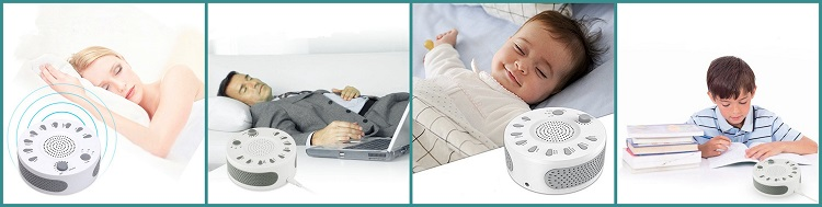 The Sound Proofing Baby White Noise Sleep Aid Machine creates good sleep environment, improves sleep quality, soothes mood and relieves pressure.