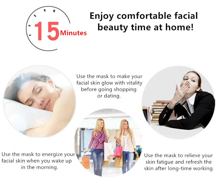 Wear the Facial Skincare LED Mask to enjoy comfortable facial beauty time at home!