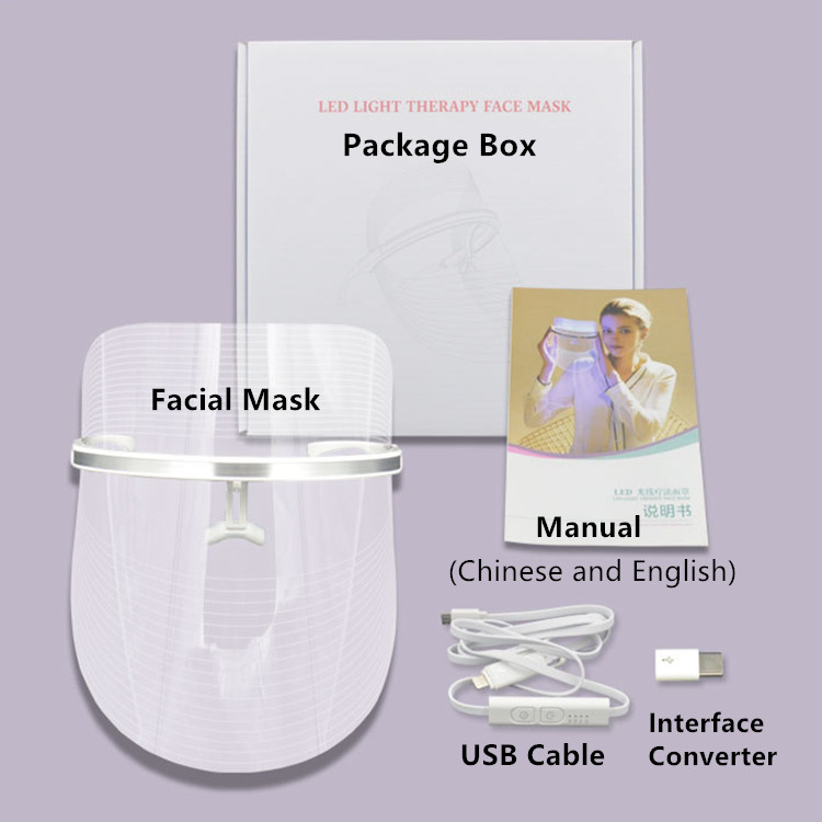 Package of Facial Skincare LED Mask