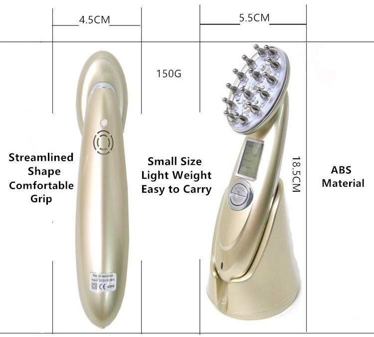 The RF Laser Hair Regrowth Comb has small size and light weight.