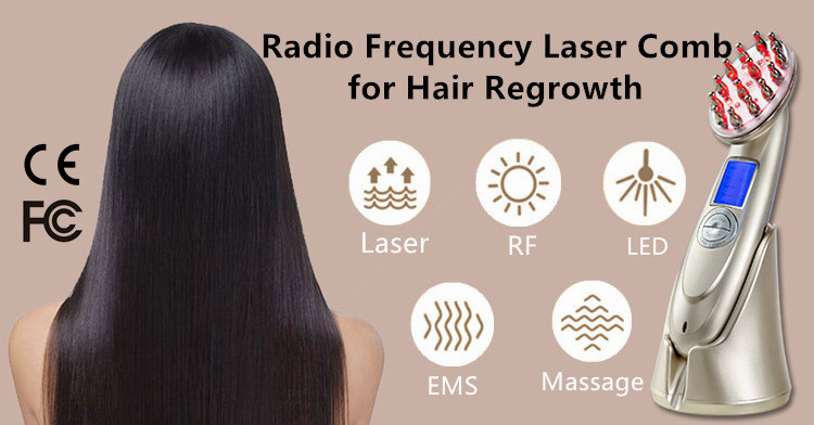 5 in 1 RF Laser Hair Regrowth Comb with Red Light EMS Massage