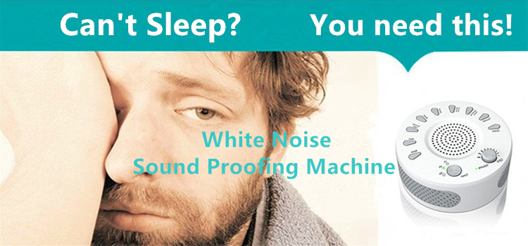 Can't sleep? You need Sound Proofing Baby White Noise Sleep Aid Machine.