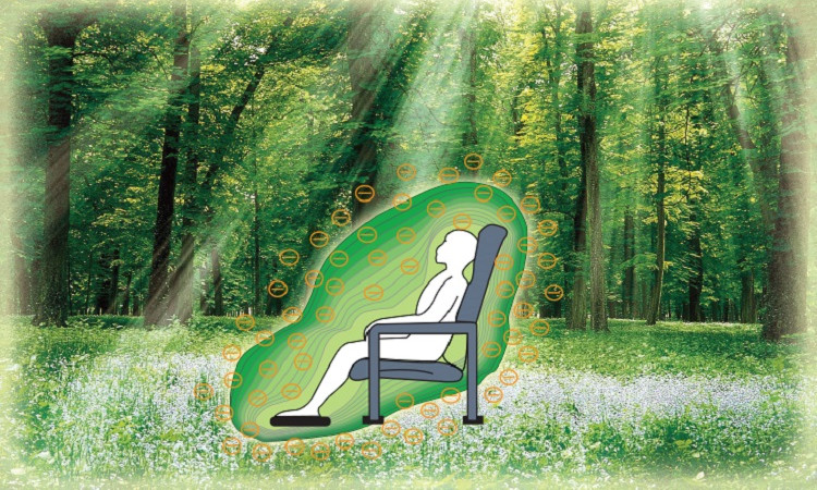 Negative potential therapy for 30 minutes has the same results as relaxing in forest for 2 hours.