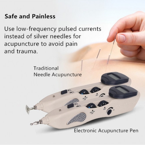 Electric Meridian Acupuncture Pen for Pain Therapy and Beauty Care