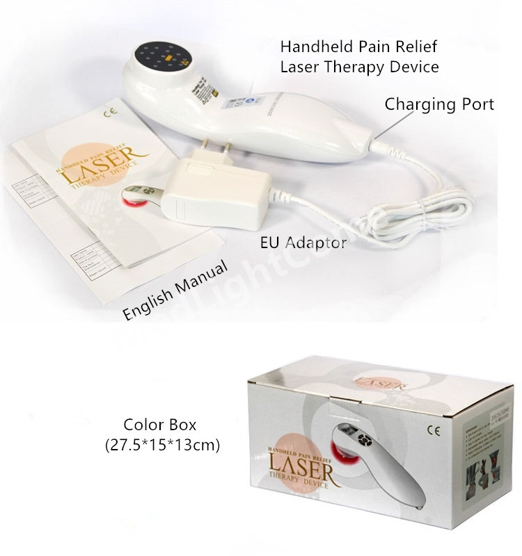 Package of Handheld Cold Laser Therapy Device