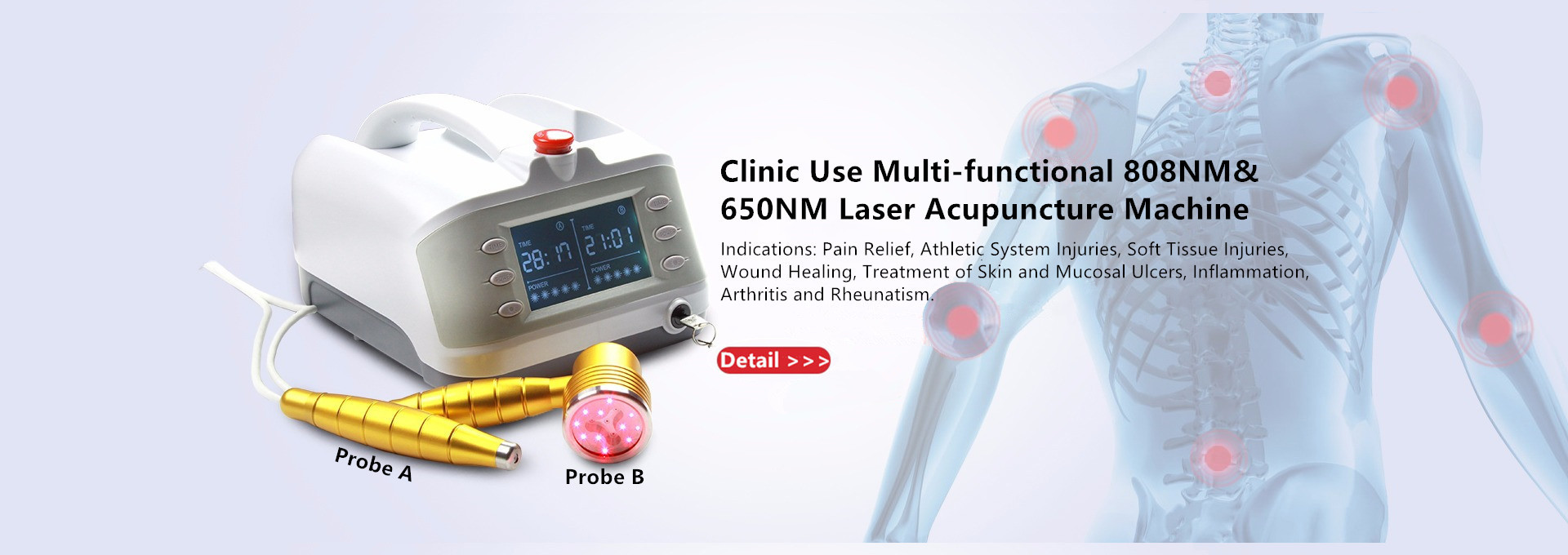 Clinic Use 1000mW Sprained Knee Pain Low Level Laser Therapy Machine