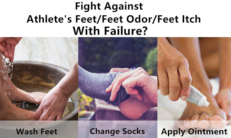 Do you fight against athlete's feet, feet odor or feet itch with failure?