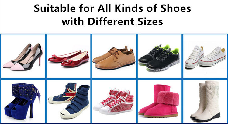 The UV Sterilizer and Ozone Deodorizer in One is suitable for all kinds of shoes with different sizes.