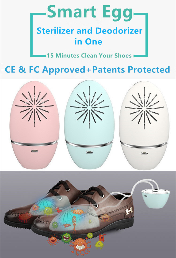 Innovative UV Sterilizer and Ozone Deodorizer in One for Shoes Use