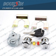 Ignition Cylinder & Door Lock Key Set For Isuzu NPR NQR NKR ELF CHEVROLET W3500 W4500 4.8L 5.2L 6.0L 1994-07 W/ Clips