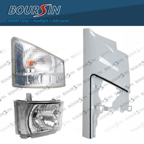 Side Panel + Corner Lamp + OEM Headlight For ISUZU NPR NPR-HD NQR NRR 3.0L 5.2L 6.0L 2008- Passenger side
