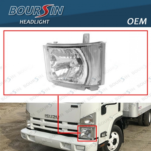 OEM HeadLamp For ISUZU NPR NPR-HD NQR NRR Reach Headlight 2008-2019 Driver Side