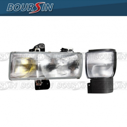 Headlight & Corner Lamp For Nissan UD 1800 2000 2300DH 2300LP 2600 3000 3300 1995-2010 W/ Bracket Driver Side