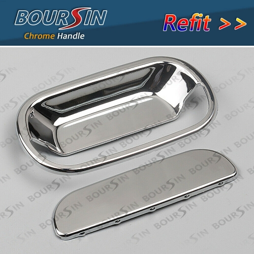 2x Refit Chrome, Exterior Door Handle For ISUZU NPR-HD NQR NRR 1995-2007 LH+RH