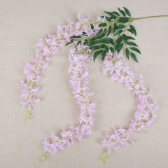 Pack of 50pcs 3 branches lilac flower long wisteria
