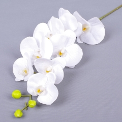 Pack of 60pcs 9 heads real touch latex orchid flower phalaenopsis