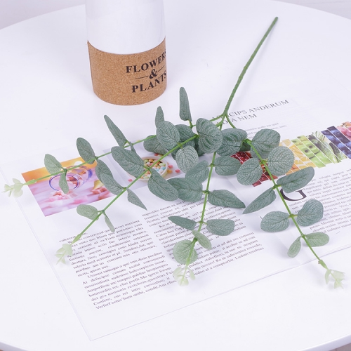 Pack of 50pcs 4 branches artificial silk eucalyptus leaves