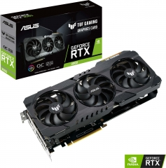 Asus GeForce RTX 3060 TUF Gaming TUF-RTX3060-O12G-GAMING 12GB GDDR6 192-bit PCIe 4.0 Desktop Graphics Card