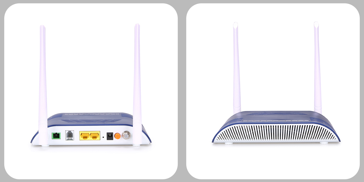 voice and wifi epon 2 port onu for ftth