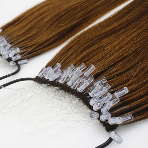 18 inch Hot Selling Double Down Full cuticle  Easy pull extension 100% human hair