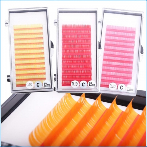 Top Quality Premium Multi Color Strip Silk Volume Glitter Korea Silk Eye Lashes Eyelashes Extension