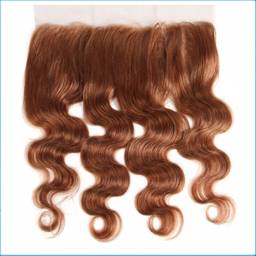 Wholesale Virgin Hair Vendors 30#  Brazilian Human Hair Body Wave 13*4 Lace Frontal Closure