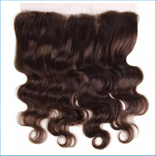 Wholesale Price Virgin Brazilian 13*4 Transparent Swiss Lace Frontal Body Wave Style