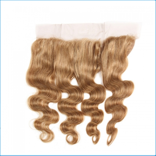 New arrival 27#  lace frontal high quality closurefactory price 13*4 brazilian hair invisible closure