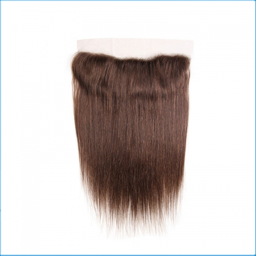Wholesale Price Virgin Brazilian 13*4 Transparent Swiss Lace Frontal  Closure 4#