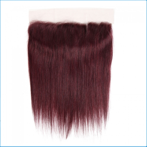 Transparent skin color lace frontals 99j 13*4 closures human hair,brazilian human hair