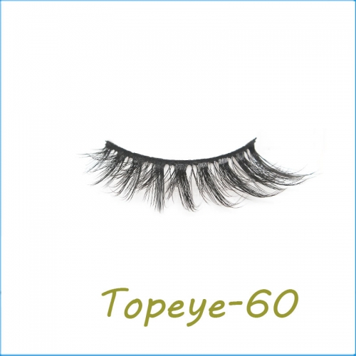 False Eyelashes 3D Faux Mink Eyelash Custom Packaging E-3D-60