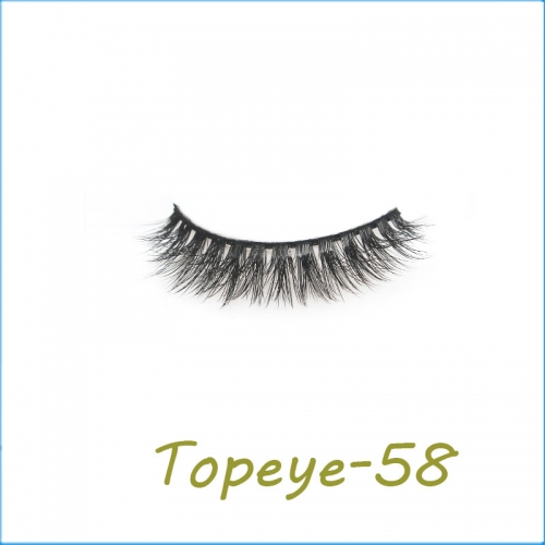 Wholesale 3D Faux Mink Eyelash Custom Packaging E-3D-58