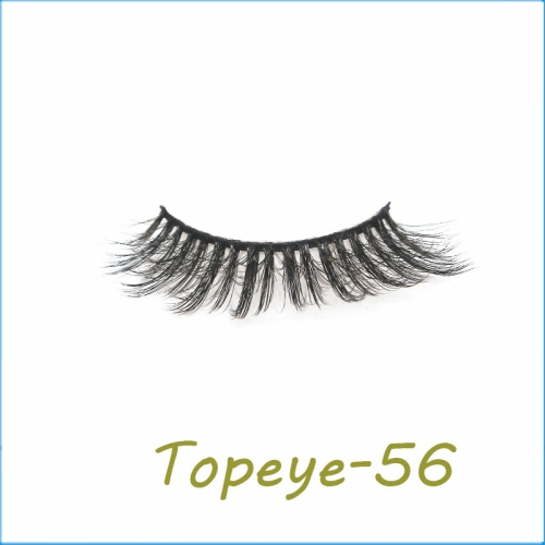 Wholesale False Eyelashes 3D Faux Mink Eyelashes Custom Packaging E-3D-56