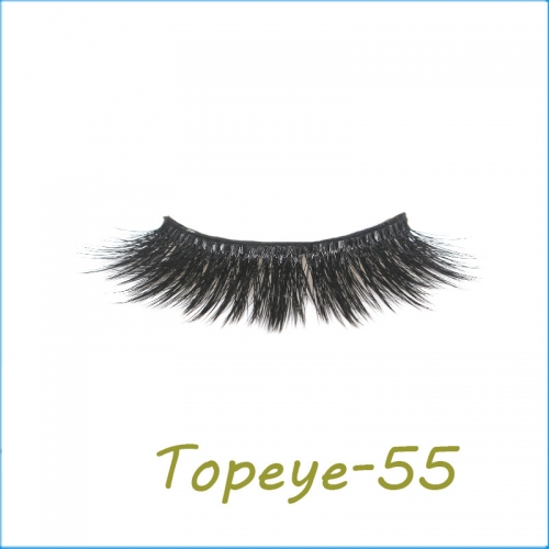 Wholesale False Eyelashes 3D Faux Mink Eye lash Custom Packaging E-3D-55