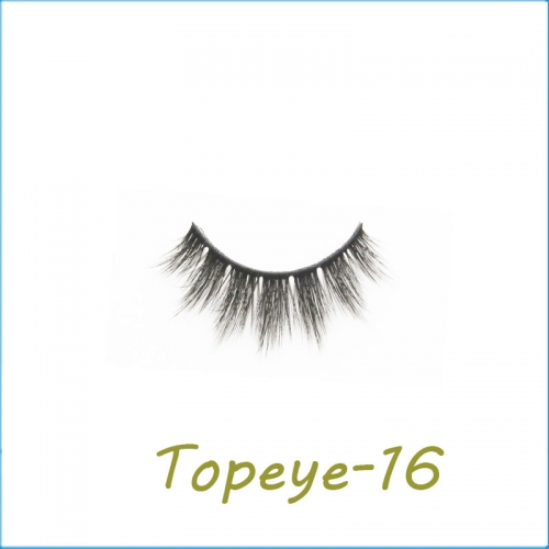 Wholesale 3D Faux Mink False Eye lash  Custom Packaging E-3D-16