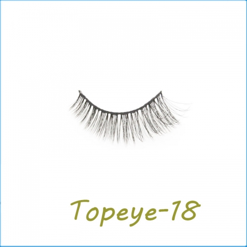 Wholesale 3D Faux Mink False Eye lash  Custom Packaging E-3D-18