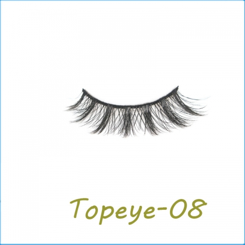 High Quality 100%  hand-made  3D faux mink full  strip eyelashes wholesale  vendor custom packaging available