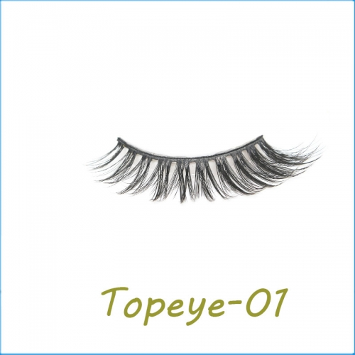 Wholesale Packaging Private Label Faux mink 3D strip eyelashes