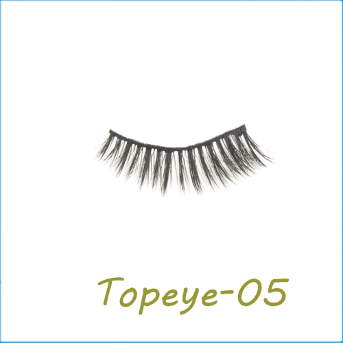 Professional hand Made 3D faux mink  strip Eyelashes  With Customized  Box
