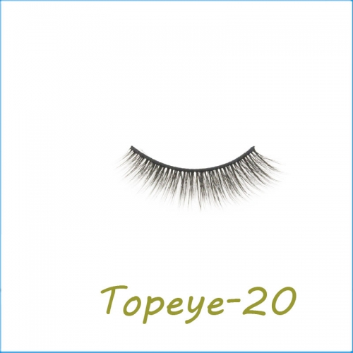 Wholesale 3D Faux Mink False Eye lash  Custom Packaging E-3D-20