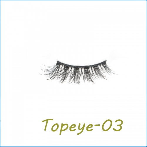New arrival  3D  Faux mink Strip False  eyeLashes  Wholesale
