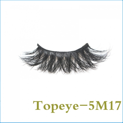 Hand Made 5D real mink  strip eyelashes  Professional  wholesale Custom Box