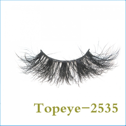 Wholesale beautiful 25mm fashion style strip eyelashes