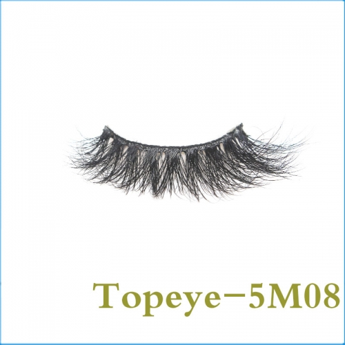 5D Mink Eyelashes Hand Made Eyelash 100% Real Fur Material Lashes E-5DM-08
